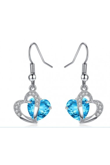 Blue Love Earrings For Valentine's Day - B052 #1
