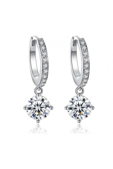 Sparkling crystal stone hoops earrings - B060 #1