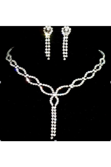 Trendy necklace and earring set online - E033 #1