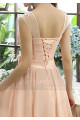Illusion Bodice Short Pink Bridesmaid Dress - Ref C813 - 04