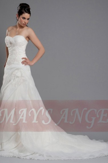 Long wedding dress - Cheap wedding dresses Trinity mermaid - M033 #1
