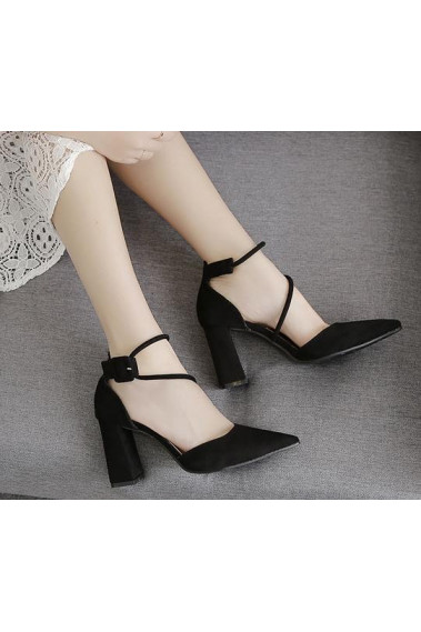 Women's Evening Comfortable Black Heels - CH092 #1