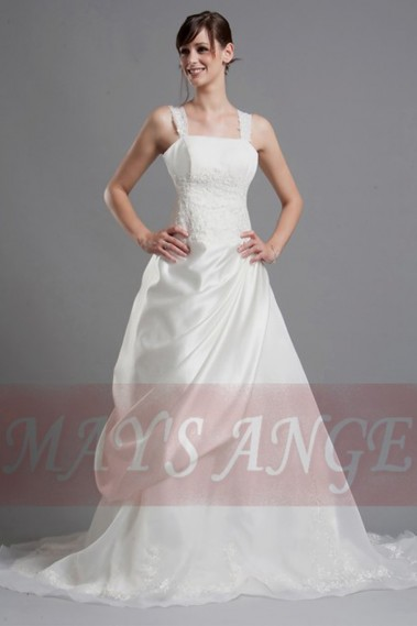 White wedding dress - Lace wedding dresses Jasmine - M038 #1