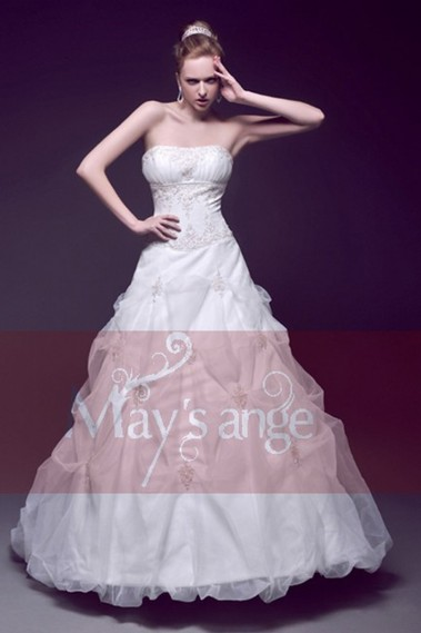 Long wedding dress - Vintage wedding dress Traditional - M039 #1