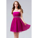 Robe de cocktail Mousseline Fuchsia - Ref C550 - 02