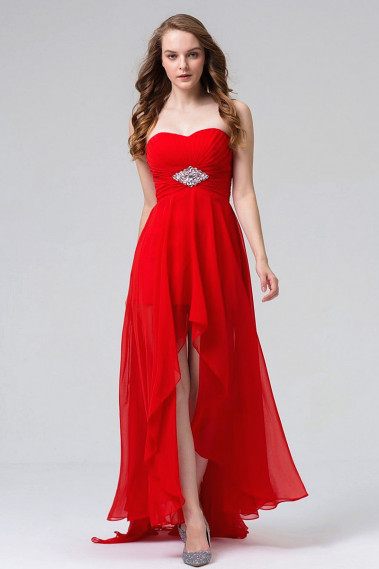 Red evening dress - Sexy Hollywood Style Red Evening Dress - L511 #1