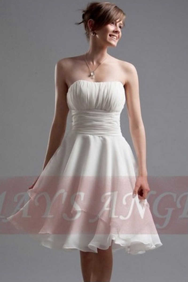 4695ad3458b Robe de cocktail Camomille blanche - Ref C005 - Robe de cocktail