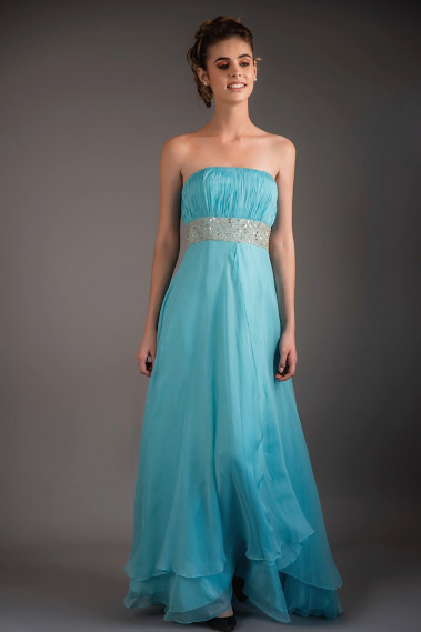Blue evening dress - Aerial Light Blue Maxi Dress For Cocktail - L289 #1