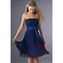 Navy Blue Short Strapless Homecoming Party Dress - Ref C186 - 03