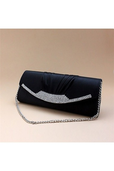 Black womens evening bags with chain - SAC002 #1