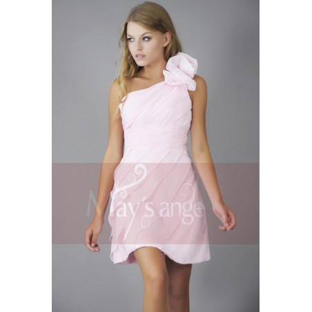 Robe de cocktail Lilas rose pâle - Ref C144 - 02