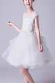 Robe Tulle Douce Blanche Fille Corsage Brodé - Ref TQ015 - 03