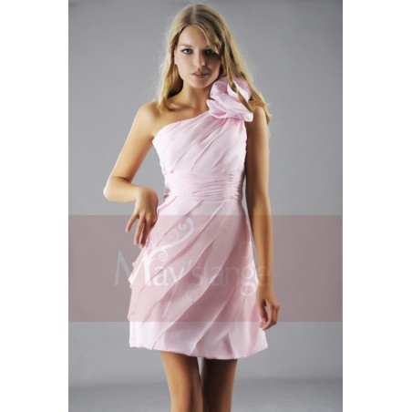Robe de cocktail Lilas rose pâle - Ref C144 - 04