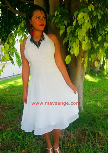 robe de cocktail blanche avis maysange