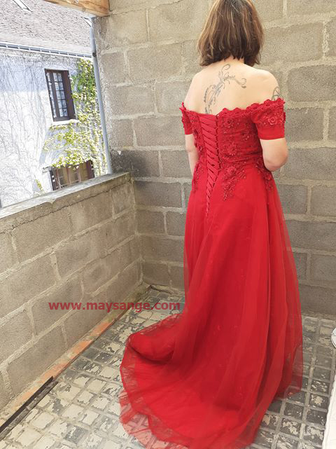robe rouge bustier